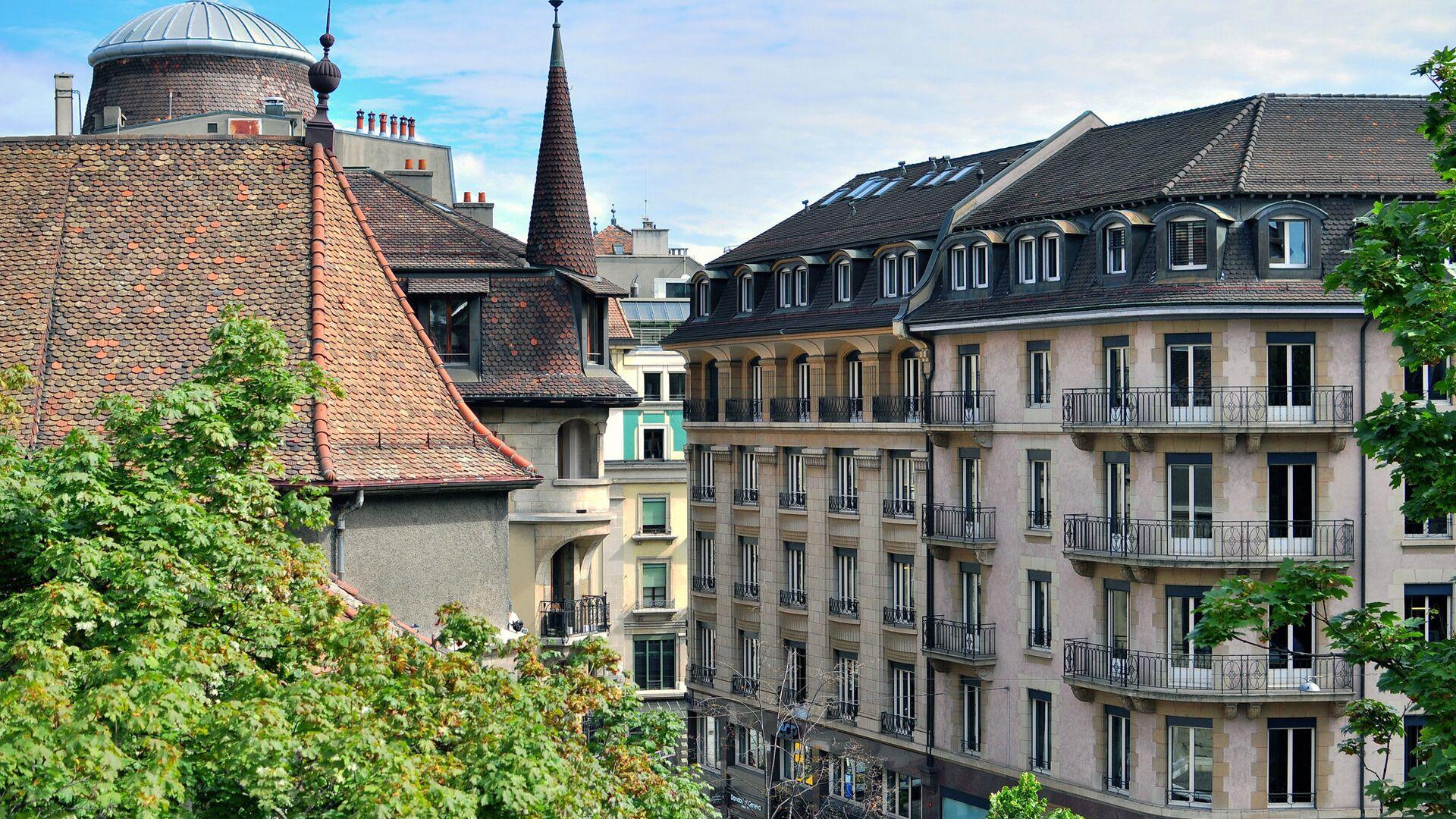Вид на центр Женевы, Швейцария - РИА Новости, 1920, 26.05.2021