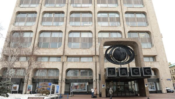 Здание информационного агентства России ТАСС на Тверском бульваре в Москве. Архивное фото.