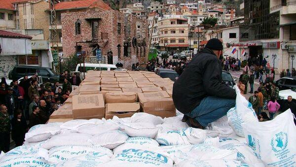 Российская гуманитарная помощь для сирийцев. Архивное фото