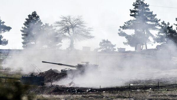 Турецкие военные ведут стрельбу по сирийской стороне на границе