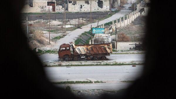 Район, контролируемый боевиками Джебхат ан-Нусры. Архивное фото