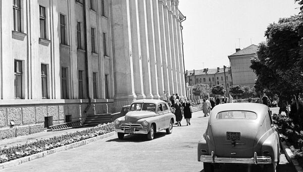 Дом Советов в Тирасполе. Молдавия. Архивное фото