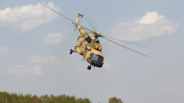 Демонстрация вертолета МИ-17 В-5