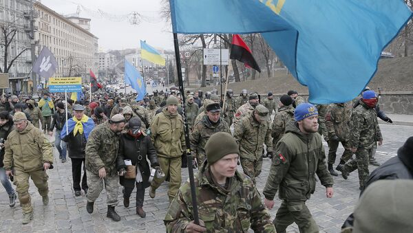 Украинские радикалы. Архивное фото