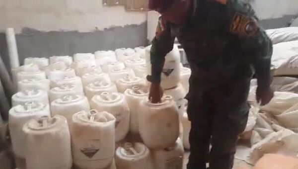 Эксклюзивные кадры с места обнаружения склада с химоружием ИГ в Ираке