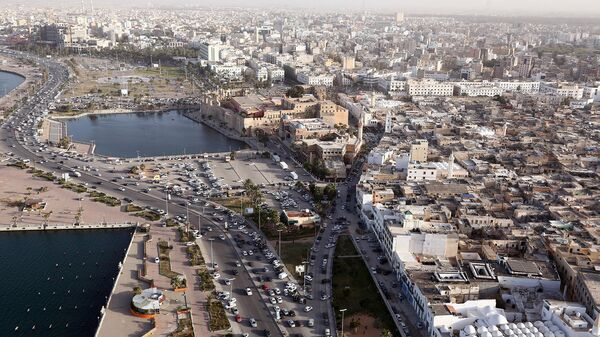 Вид на город Триполи, Ливия