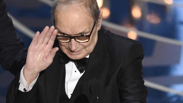 Композитор Эннио Морриконе на 88-й церемонии вручения премии Оскар в Голливуде