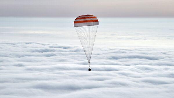 Спускаемая капсула корабля Союз ТМА-М. Архивное фото