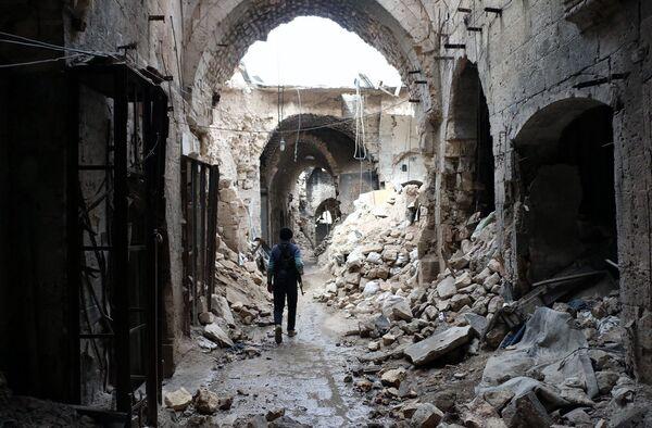 Старый рынок в Алеппо. 2014 год