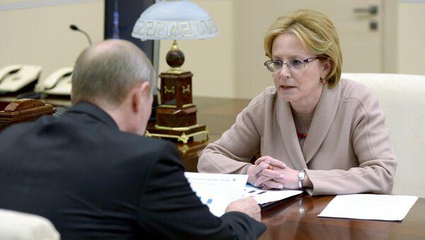 Президент РФ В. Путин встретился с министром здравоохранения РФ В. Скворцовой