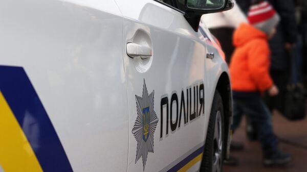 Автомобиль полиции на Украине. Архивное фото