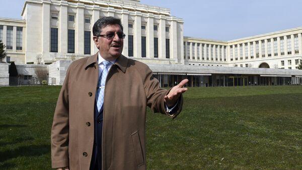 Официальный представитель Высшего комитета по переговорам оппозиции Сирии Салем аль-Муслит. Архивное фото