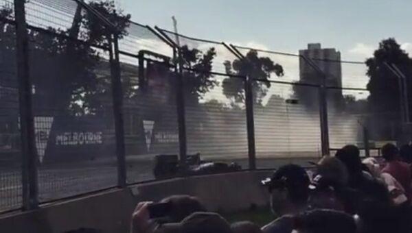 Авария на этапе Формулы-1 в Австралии