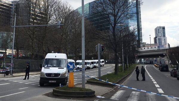 Оцепление в районе Мальбек в Брюсселе