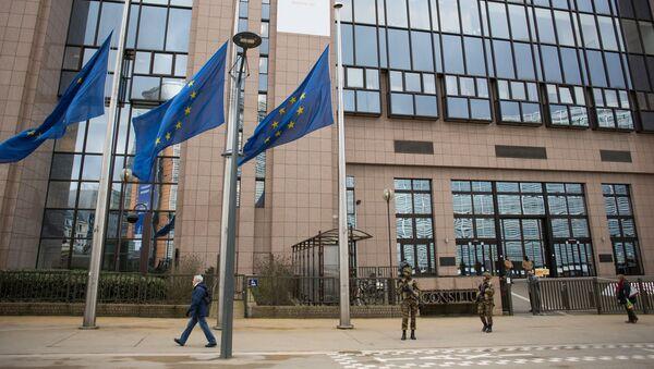 Здание Европейского парламента в Брюсселе. Архивное фото