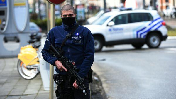 Сотрудник полиции Бельгии. Архивное фото