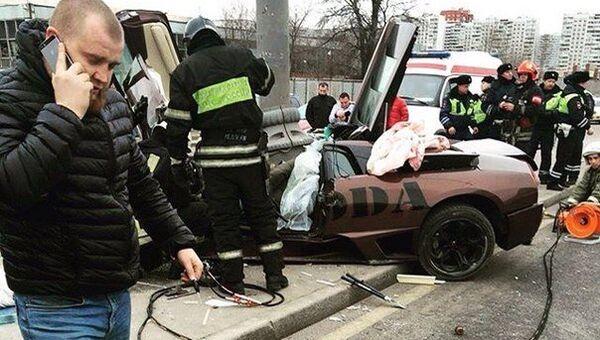 ДТП которое произошло вечером 25 января на Варшавском шоссе возле станции метро Южная