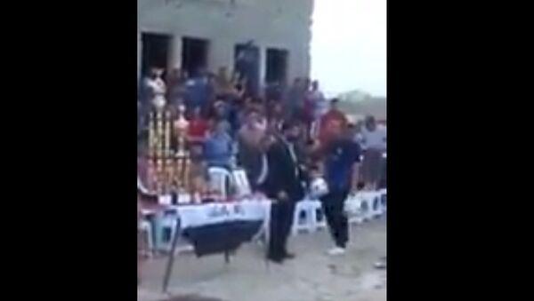 В сети появилось видео взрыва на стадионе в Багдаде