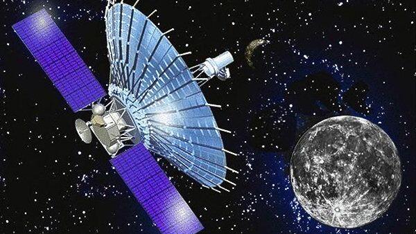 Художественное изображение космического радиотелескопа Спектр-Р