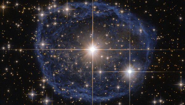 Звезда Вольфа — Райе  (WR 31a) снятая телескопом Хаббл