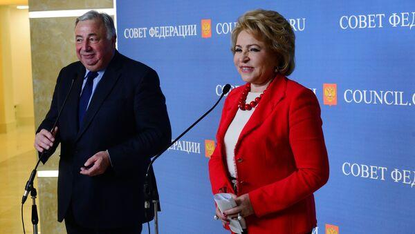 Встреча председателя Совета Федерации В. Матвиенко с председателем Сената Франции Ж. Ларше