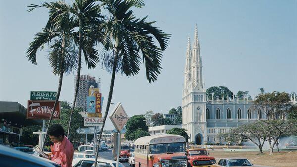 Панама-сити, центральный район столицы. Республика Панама. Архивное фото