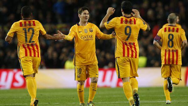 Футболисты Барселоны одержали победу над мадридским Атлетико