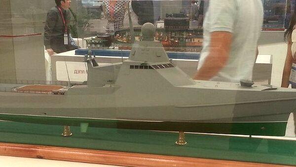 Модель корабля проекта 22160. Архивное фото