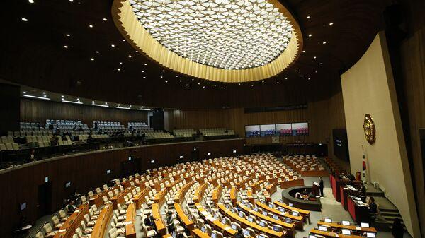 Заседание парламента Южной Кореи