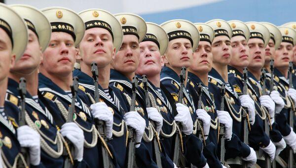 Курсанты Балтийского военно-морского института (БВМИ) . Архивное фото