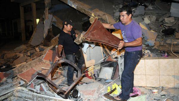 Последствия землетрясения в Эквадоре. Архивное фото