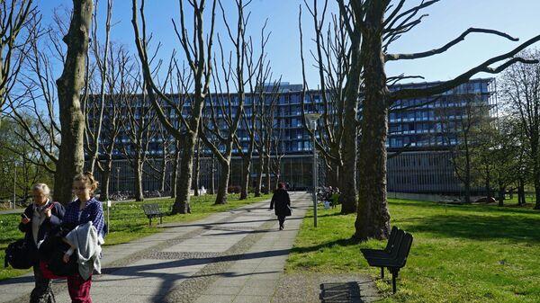 Здание клиники Charite' campus Benjamin Franklin в Берлине