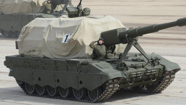 Самоходная артиллерийская установка САУ Коалиция-СВ. Архивное фото