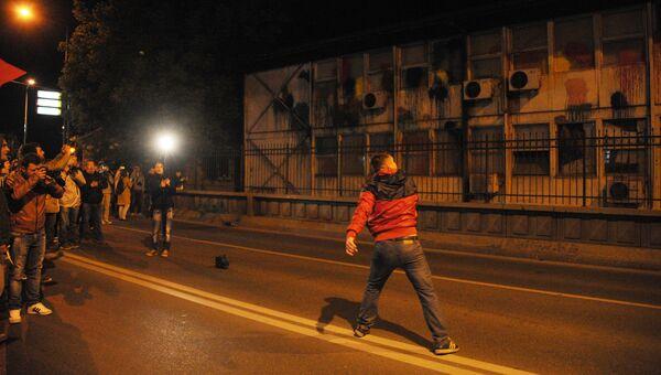 Оппозиционер в Скопье. Архивное фото