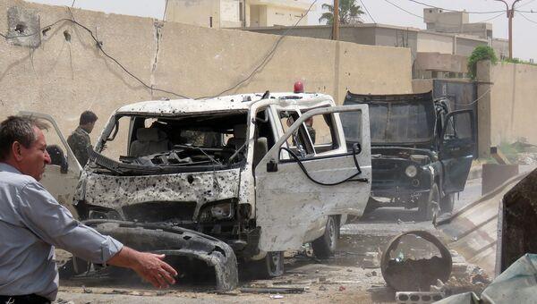 На месте взрыва в шиитском квартале Сейида Зейнаб на юге Дамаска, апрель 2016. Сирия