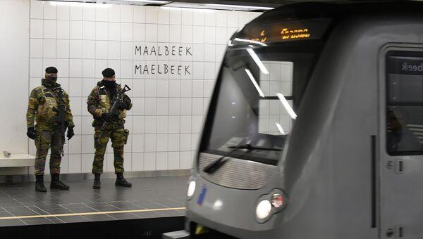 Станция метро Мальбек в Брюсселе после открытия 25 апреля 2016