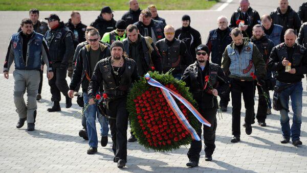 Мотопробег из Москвы в Берлин в честь Дня Победы. Архивное фото