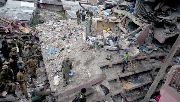Обрушение шестиэтажного здания в одном из районов Найроби, Кения