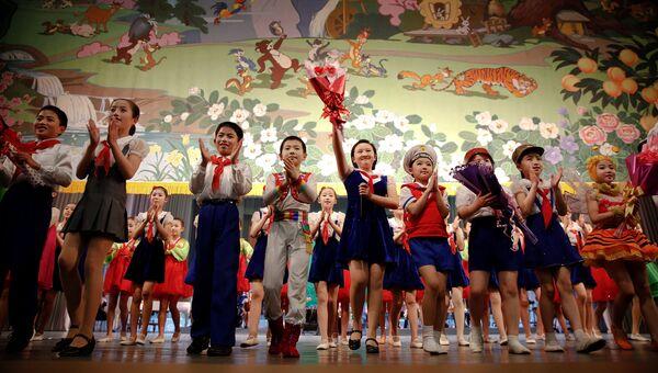 Пхеньян во время съезда в КНДР