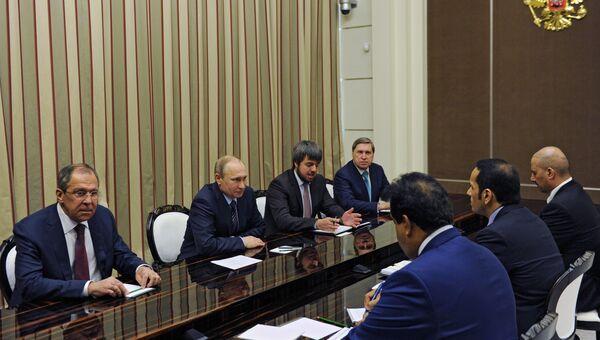 Встреча президента РФ В. Путина с министром иностранных дел Катара М. аль-Тани