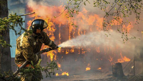 Лесные пожары в Амурской области. Архивное фото