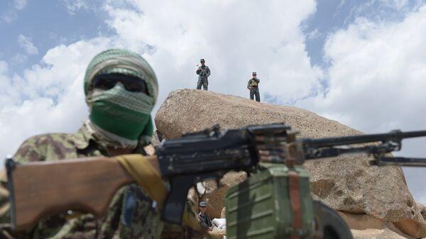 Сотрудники вооружённых сил Афганистана. Архивное фото
