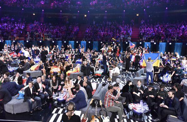 Участники музыкального конкурса Евровидение - 2016 ждут начала голосования  в Стокгольме