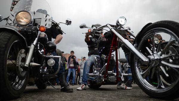 Члены мотоклубов. Архивное фото