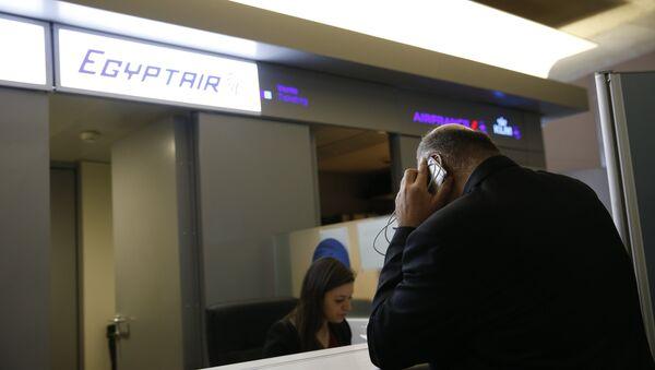 Стойка компании EgyptAir. Архивное фото