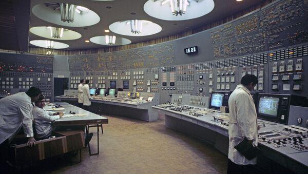 Пульт управления энергоблоком Южно-Украинской АЭС. Архивное фото