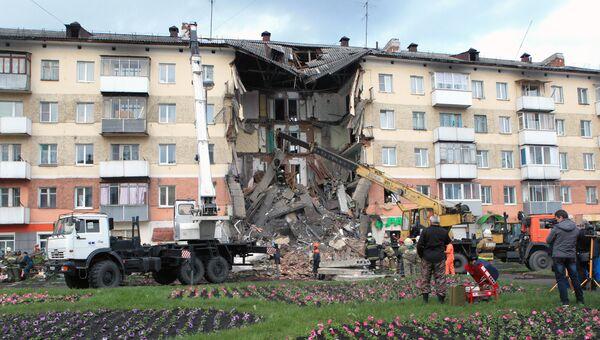Обрушение подъезда пятиэтажного жилого дома в Междуреченске. Архивное фото