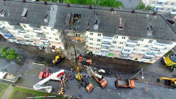 Обрушение в одном из подъездов жилого пятиэтажного дома в Междуреченске