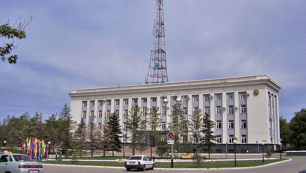 Здание городской администрации в Актобе, Казахстан