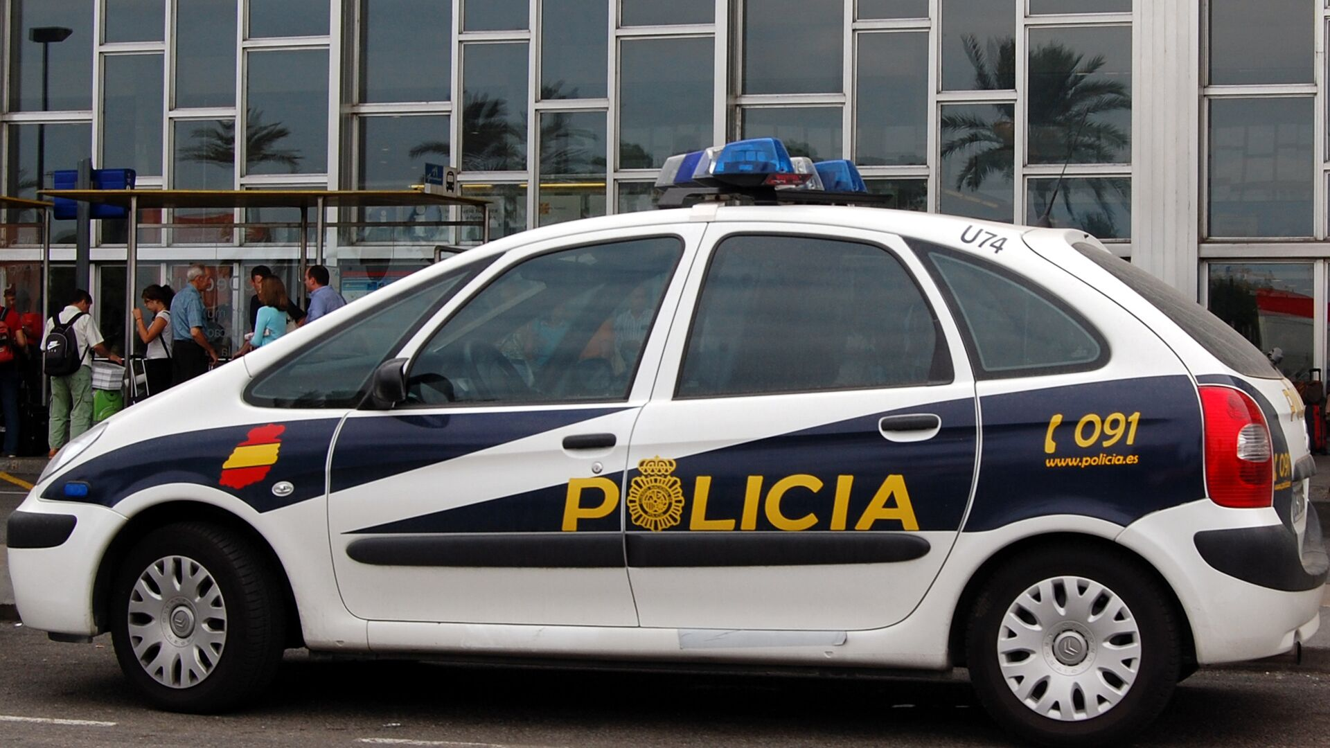 Автомобиль испанской полиции - РИА Новости, 1920, 01.10.2020
